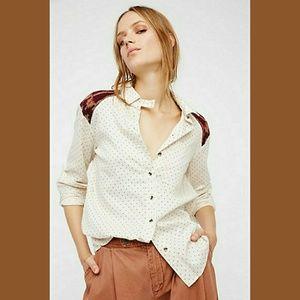 Free People Sage Sweater Buttondown